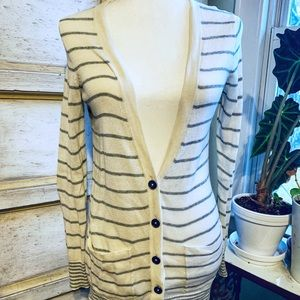 Madewell Striped Cotton Cardigan